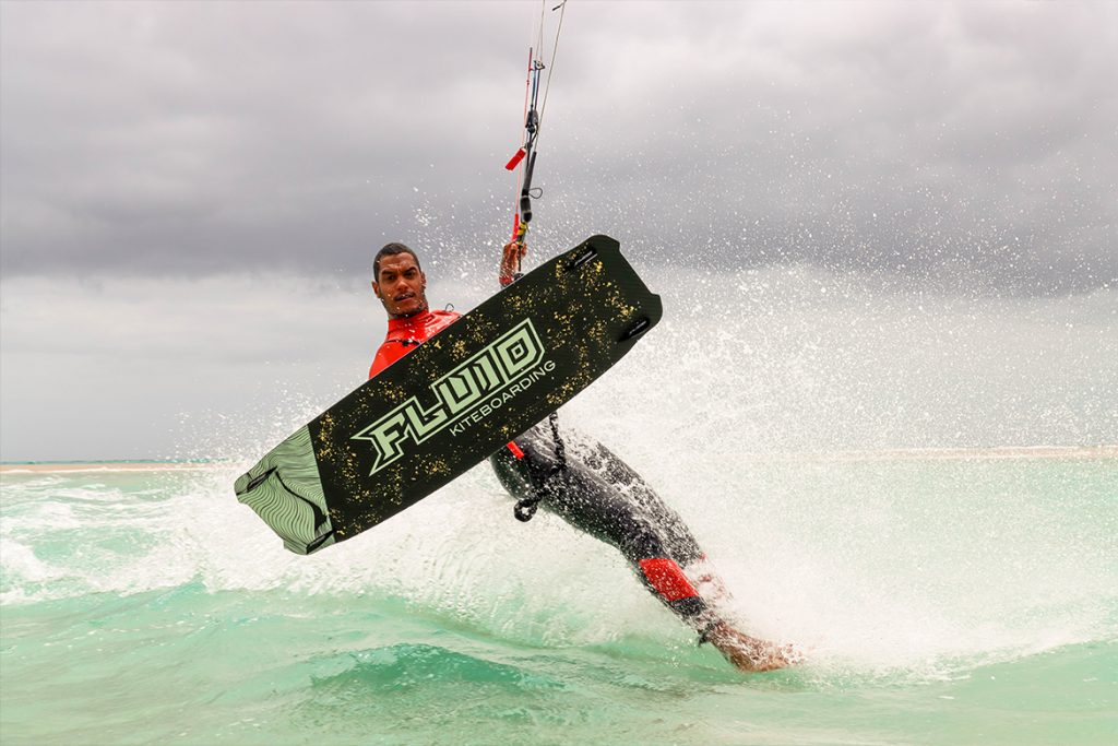 fluid kiteboarding owner gilion goveia with the twosven XTR