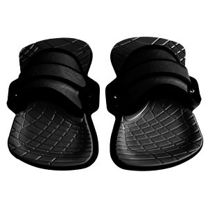 Fluid kiteboarding feather lite bindings. Fits any board at a very affordable pricerate.