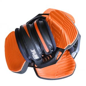 Fluid MAX orange kiteboarding footpad bindings universal