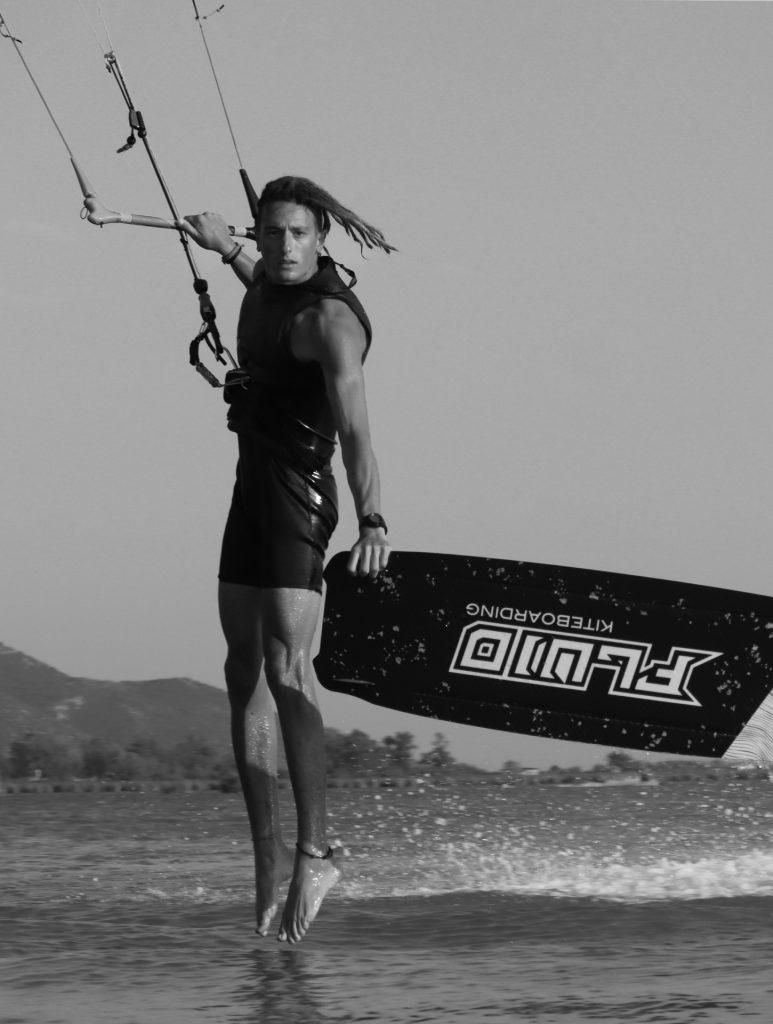 Markos Psaltakis Fluid kiteboarding teamrider
